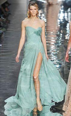 i love mint dress.. elie saab 2010
