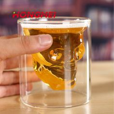 Super Hot Special Transparent Crystal Skull Head Shot Glass Cup For Whiskey Wine Vodka Home Drinking Ware #Affiliate