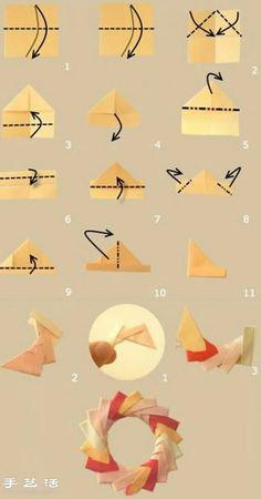 Hacer origami aro colgante inserto triangular / pendientes Tutorial - www.shouyihuo.com
