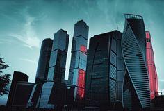 город, Москва, вечер