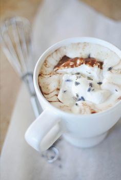 lavender hot chocolate...yes please!