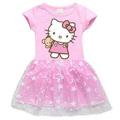 Hello Kitty Dress Hello Kitty Dress, Hello Kitty Plush, Disney Baby Clothes, Cute Baby Clothes, Dresses Kids Girl, Little Girl Outfits, Girls Playhouse, Princess Kitty, Tutu Party