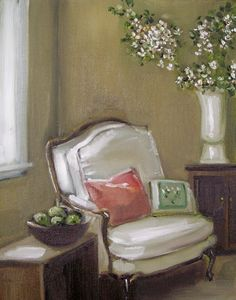 Green Apples and Orange Blossoms by Janet Hill