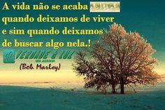 mensagens espíritas edificantes   vida não acaba quando deixamos de viver./Bob Marley - Verdade Luz