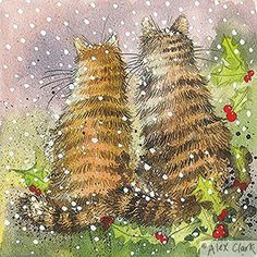 Alex Clark Charity Christmas Cards Cats in the Holly Pack... https://www.amazon.co.uk/dp/B00MB94OR8/ref=cm_sw_r_pi_dp_x_2YzPybEX39PG3