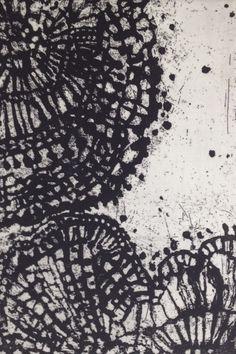 Ritsuko Ozeki - Lace . 2014 . 25x17cm . etching