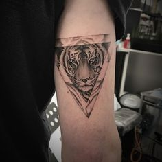 #tattoo #tiger #triangle on #tricep