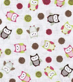 Novelty Quilt Fabric- Linen Owl Toss & fabric at Joann.com