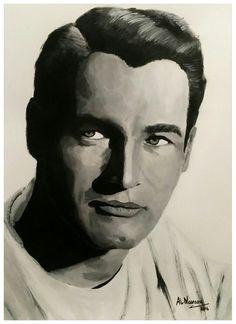 Paul Newman Acrilico