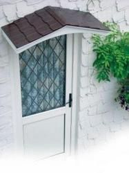 Awnings for doors   tapco cottage portico single door canopy the cottage  portico door  A shed style roofette isn t as elegant as a gable roofette  but  . Exterior Door Roof Overhang. Home Design Ideas
