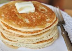 Fluffy Coconut Flour Pancakes (use water instead of milk and make a 1/4 of the recipe for a single serving)