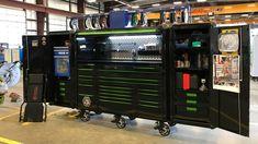 Matco Tool Box, Garage Tool Storage, Garage Tools, Garage Shop, Garage Ideas, Garage Workshop Organization, Workshop Storage, Custom Tool Boxes, Metal Bins