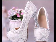 Como fazer um sapato de noiva (Sapato luxuoso) - YouTube