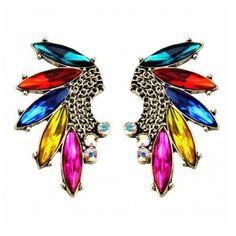 USD2.99Brilliant Tassels Embellished Metal Earrings