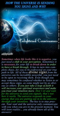 HOW THE UNIVERSE IS SENDING YOU SIGNS AND WHY