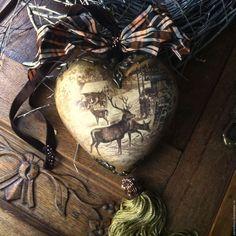 """Купить """"Alpine Hirsche"""" Большие Рождественнские Сердце, Шар, Колокольчик - шар, сердце, колокольчик"""