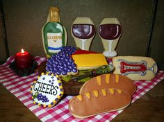 Happiest Hour Wine and Cheese Party Iced Decorated Sugar Cookies