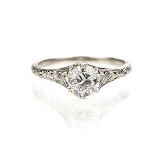Leigh Jay Nacht Inc. - Art Nouveau Engagement Ring - VR0219-02