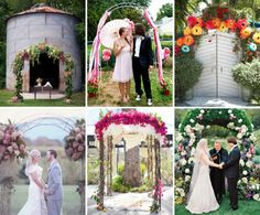 real wedding ceremony arches