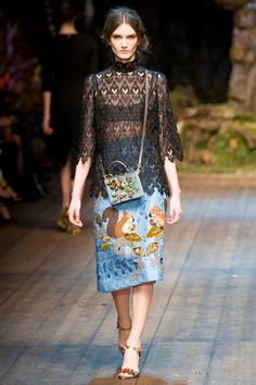 @roressclothes clothing ideas #women fashion black blouse Dolce and Gabbana Fall 2014 Show