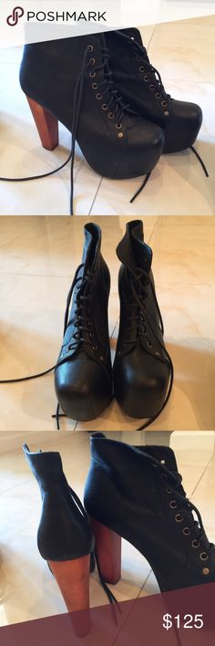 Jeffrey Campbell Black Lita's Only worn a handful of times, in great condition! Jeffrey Campbell Shoes Ankle Boots & Booties