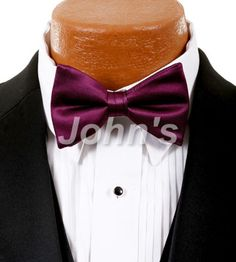 Sangria Simply Solid Bow Tie