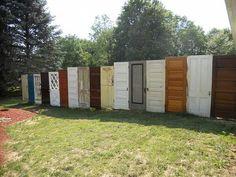 Old Door Fence, have always loved this idea. you can paint the doors and make them your own