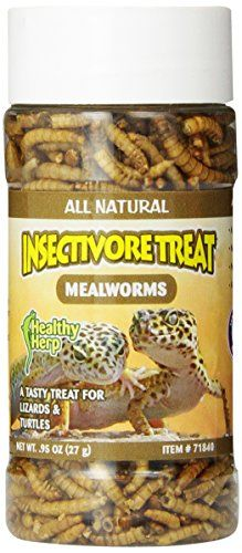 San Francisco Bay Brand health herp insectivore treat-mealworm is all natural contains no preservatives and is healthy and nutritious for all carnivores. It contains mealworms a source of collagen pr...