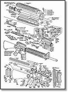 Exploded AR15 parts diagram | AR15 | Pinterest | Ar15