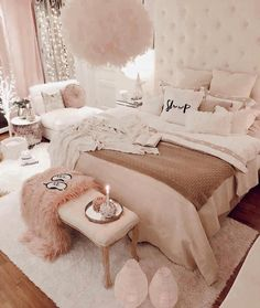 Modern and Small Bedroom Interior Design Ideas ! Part bedroom ideas; bedroom ideas for small room; Teen Bedroom Designs, Bedroom Decor For Teen Girls, Cute Bedroom Ideas, Room Ideas Bedroom, Design Bedroom, Bedroom Inspo, Small Bedroom Interior, Fancy Bedroom, Stylish Bedroom