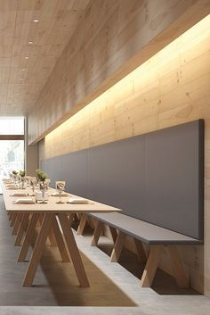 love the table!! the bench seating looks uncomfortable.