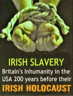 Their were Irish Slaves signs in windows Irish need not apply. Holocaust also. Sad but true. Did alot of research. Farming the Irish & the Latino Mexicans helped each other in a time of crisis. History Books, Family History, History Class, British History, American History, Irish Pride, Irish Roots, Irish Eyes, Celtic