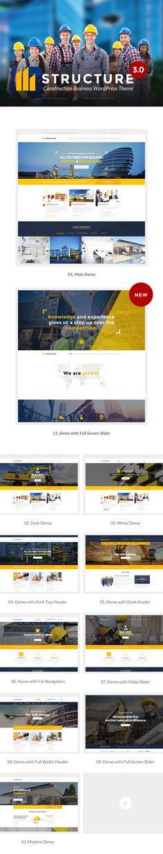 Construction WordPress Theme - Structure