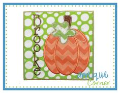 Pumpkin with Patch room for Name