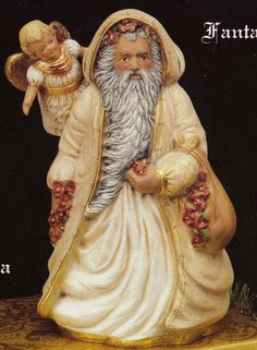 Old World Fantasy Santa  Collectible ceramic bisque Tec sheet for painting available app 10""