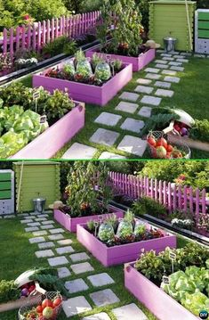 Creative Garden Bed Edging Ideas Projects Instructions , Paint Pallet Garden Edging - 20 Creative Garden Bed Edging Ideas Projects Instructions Source by urbanorganicyield.