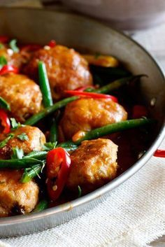 Thai Chicken Meatball Curry with Jasmine Rice