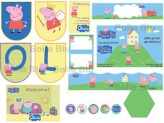 Peppa Pig Party Decor Big Set Digital by BolleBluParty on Etsy