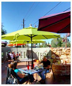 Golden Goose Grill in Sedona Arizona AZ Amazing Red, Market Umbrella, Casual Dinner, Sedona Arizona, Rv Travel, Golden Goose, Design Development, Happy Hour, Travel Ideas