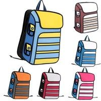 Japan Unisex 3D Jump Style 2D Drawing #Cartoon Paper #Comic #School #Backpack #Bag #Satchel T_WBH008