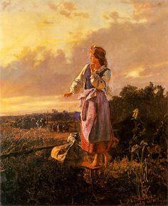 """lovingpoland: """" In the garden 1869 Józef Chełmoński (1849 - 1914) """""""