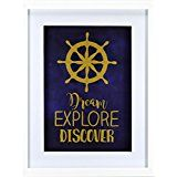 Linden Ave Nautical Wall Decor  11in x 14in