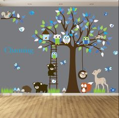 Vinyl Wall decal stickers swing tree set by wallartdesign on Etsy