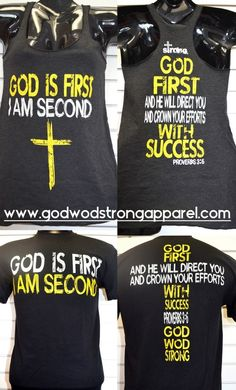 God first I am Second for men and woman apparel. #apparel #fitness #crossfit