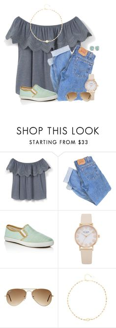 """""""Can't believe that July is almost here!"""" by victoriaann34 on Polyvore featuring MANGO, Levi's, Jack Rogers, Ray-Ban, Ela Rae and Melissa Joy Manning"""