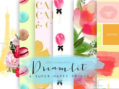 Free printable Papers and Prints by Craft A Doodle Doo ~ Dreamlit, six super-happy prints Digital Scrapbooking Freebies, Digital Scrapbook Paper, Digital Papers, Digital Paper Free, Digital Prints, Pattern Paper, Paper Patterns, Printable Planner, Free Planner