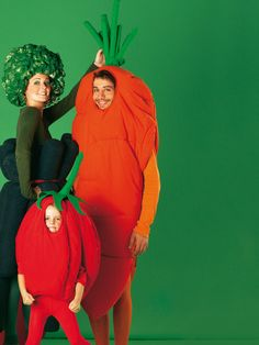 Carrot, Broccoli and Baby Tomato family costume