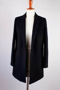 Black Wool Long Suit for Winter.2