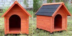 La niche pour chien Buck est parfaitement adapté pour les petits chiens (Jack Russel, Yorkshire...) Panneau de 8 mm en bois et couverture en feutre bitume de couleur noire. Dimensions hors-tout : 54*77*66,5 cm