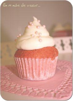 Pink Velvet Cupcakes ~ En mi nube de azucar....